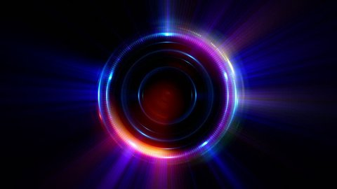 Abstract neon background. luminous swirling. Glowing spiral cover.  Black elegant. Halo around. Power isolated. Sparks particle. Space tunnel. LED color ellipse. Glint glitter. Shimmer motion