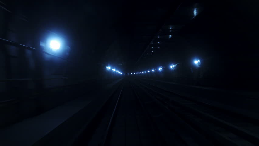 Rapid Transit Metro Subway Underground Tunnel, travel backward | Shutterstock HD Video #24199039