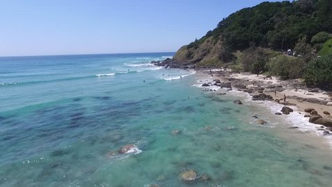 An aerial view of Wategoes Beach in Byron Bay on the New South Wales (NSW) far north coast