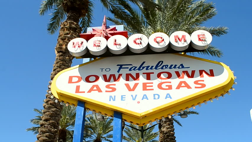 LAS VEGAS, NV - APR 18: Welcome to fabulous Las Vegas  Downtown Sign on April 18,2016 in LV, Nevada, USA. | Shutterstock HD Video #24212689
