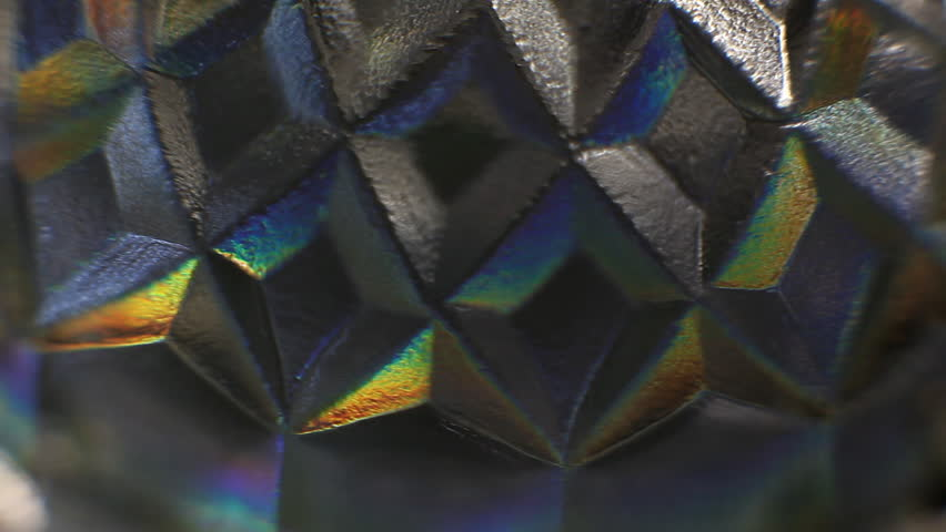 Rotating mirror glittering crystal glass surface close up | Shutterstock HD Video #24237599