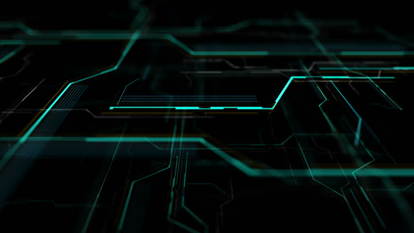 Futuristic HUD display, virtual touch user interface in flat design. Moving lines, abstract HUD user interface. Abstract background with animated shapes of spline. Camera moving in left. | Shutterstock HD Video #24328469