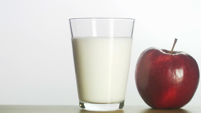 Glass Of Chocolate Milk With Straw