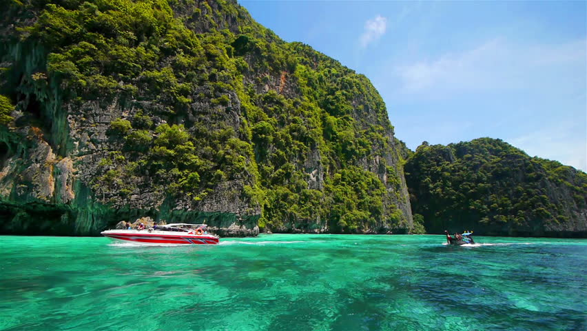 Boat trip to tropical islands, Thailand | Shutterstock HD Video #2439557