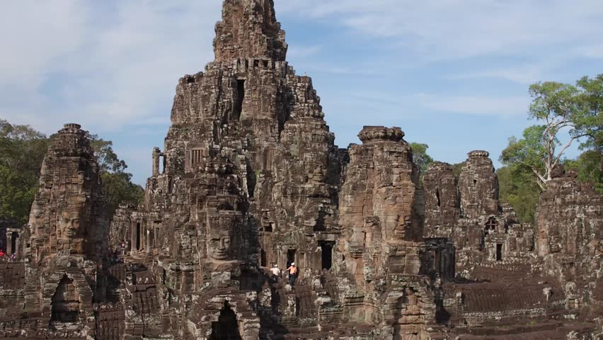 fly over bayon temple 2 #24406709