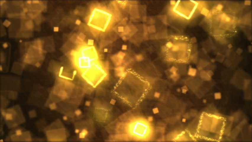 Drawing Square Shapes Motion Background Animation - Loop Golden | Shutterstock HD Video #24464120