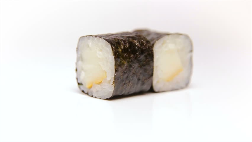 Smoked Squid Sura Maki Roll Stock Footage Video 100 Royalty Free 24525719 Shutterstock