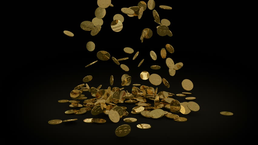 gold coins black background - photo #7