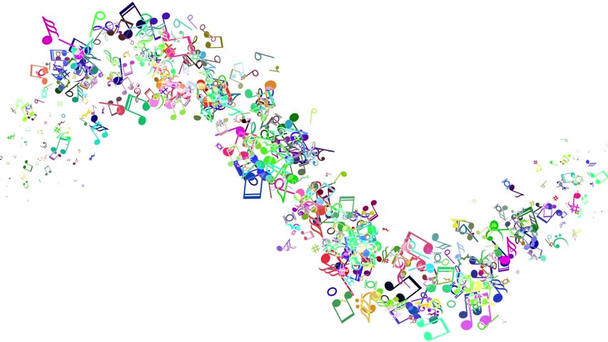 3d Colorful Music Notes Wallpaper: Abstract Background With Colorful Music Stock Footage
