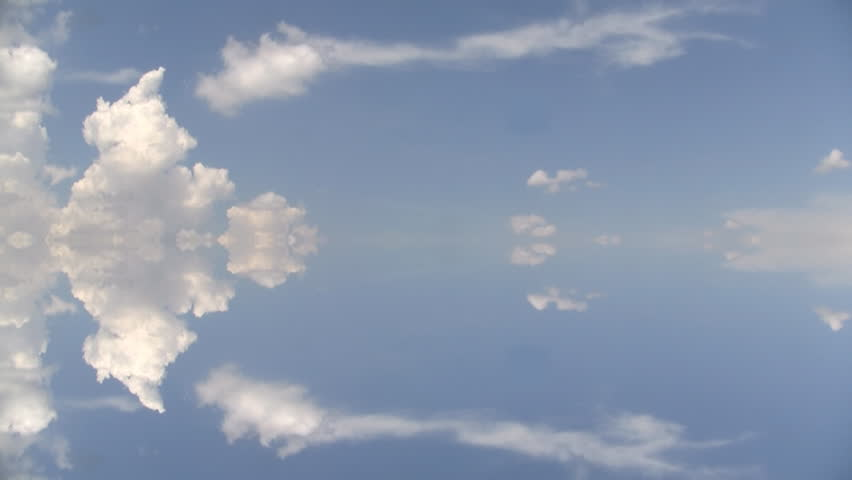 Cumulus. Small Cumulus Clouds Form And Dissipate On A Late Summer ...