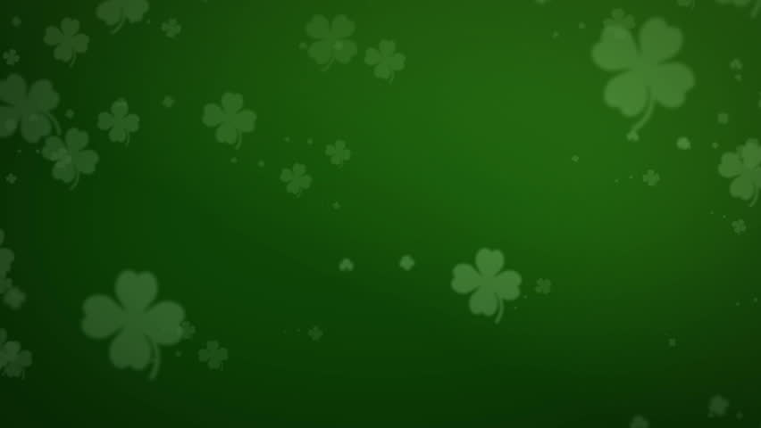 animation of a loopable shamrock background