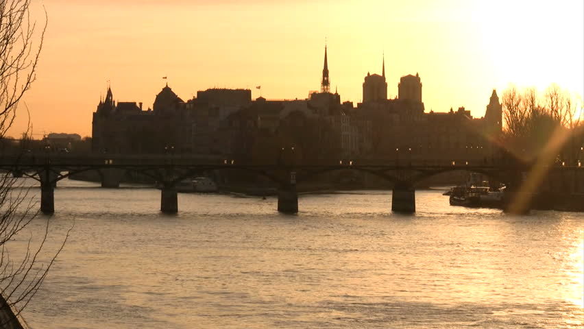 Ile de la Cite, Paris, morning light | Shutterstock HD Video #24639