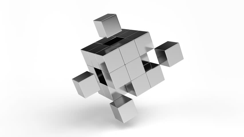 Abstract Chrome Cubes, 3d Render, Stock Footage Video (100% Royalty-free)  24639029 | Shutterstock
