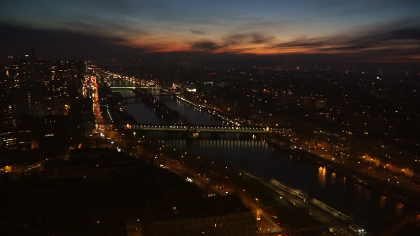 Flickering night Paris from a height | Shutterstock HD Video #24640571