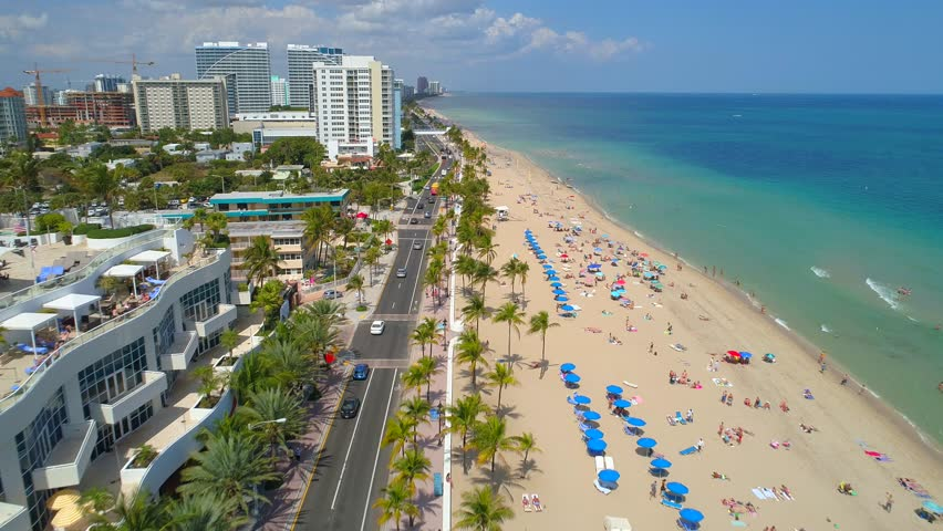Aerial 4K Video Of South Beach Miami Amazing Birds View