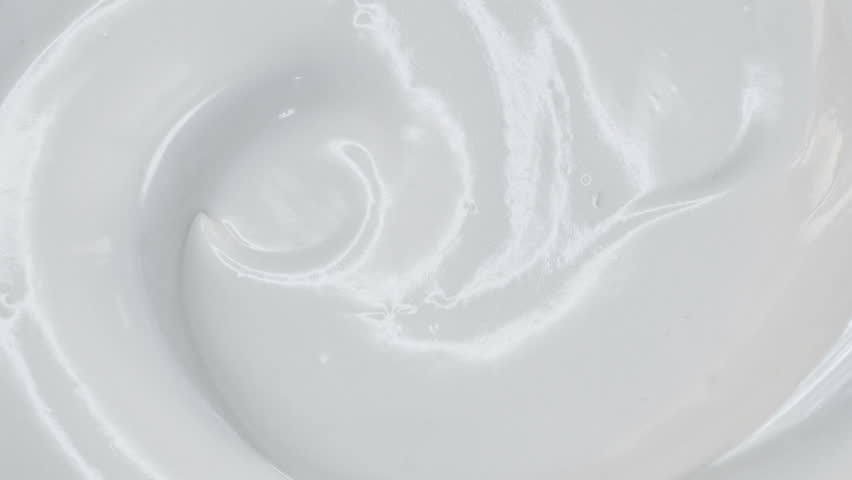 Closeup shot of cosmetics cream with rotate, Top view