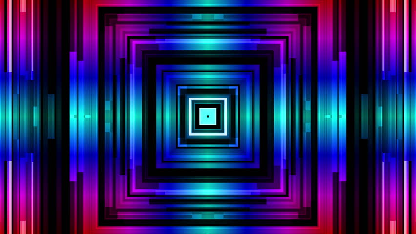 c048167ece7 Abstract Geometric Neon Frames Loop Stock Footage 100