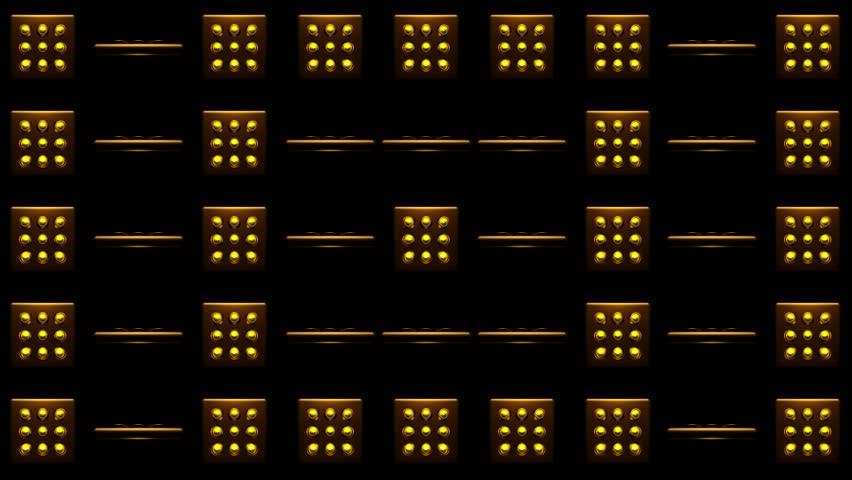 Spinning Golden Yellow Dot VJ | Shutterstock HD Video #24809579