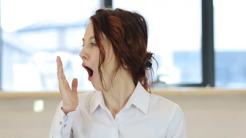 Yawning Woman, Workload | Shutterstock HD Video #24825074