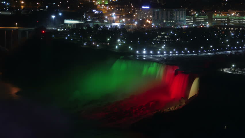 River of Color Falling at Niagara Falls American Falls Time Lapse | Shutterstock HD Video #24858029