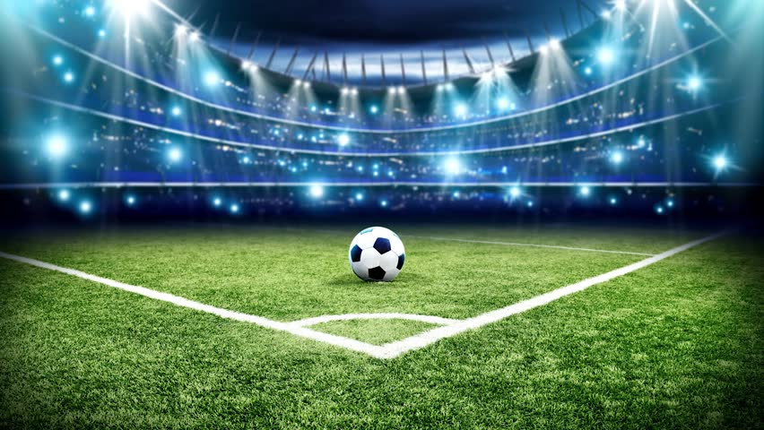 Football pitch and green grass with lights  | Shutterstock HD Video #24865919