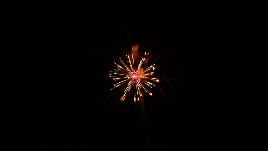 The fireworks in the night sky | Shutterstock HD Video #24873869