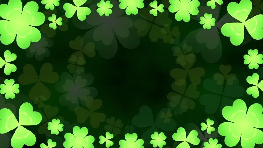 Clover frame loop 2 pattern dark background   Shutterstock HD Video #24889949