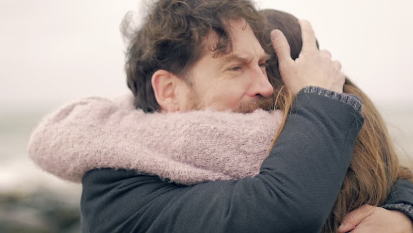 Handsome man crying hugging love of his life | Shutterstock HD Video #24908861