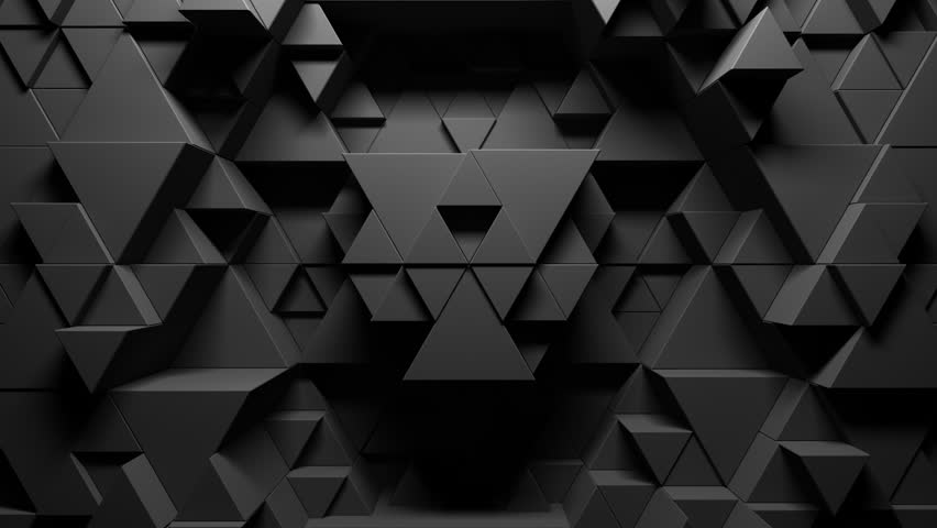 Black Polygon With Red Edges Abstract Hd Wallpaper