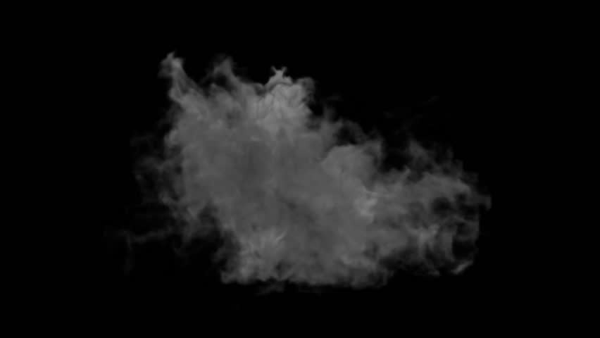 Explosion on black. Side view. 2 versions - with and without flash. Alpha mask. HD 1080. | Shutterstock HD Video #2496629