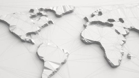 Abstract Polygonal World Map Animation