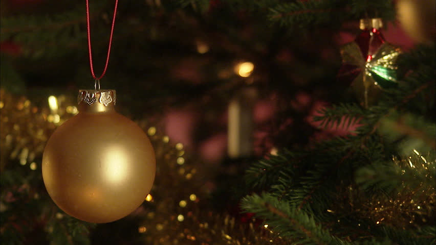 Christmas Tree With Many Ornaments Stock Footage Video 100 Royalty Free 2501039 Shutterstock