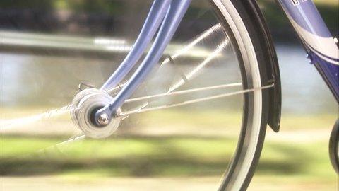 Bicycle hub, close-up