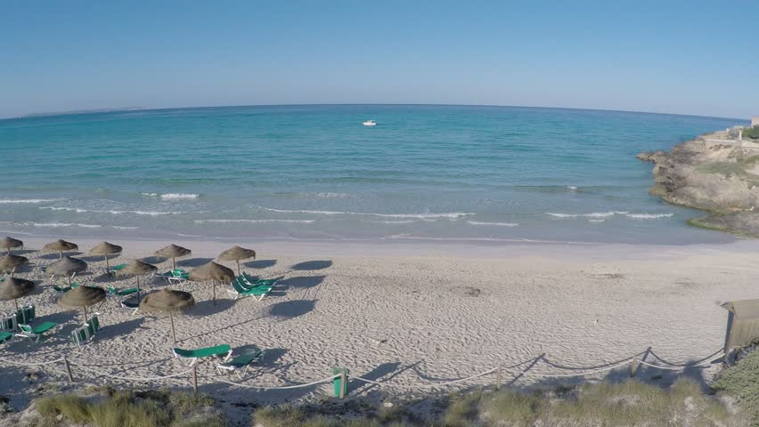 Es Trenc White Sand Beach Flyover - Aerial Flight