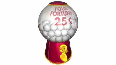 Insurance Gumball Machine Get Policy Coverage 3d Animation