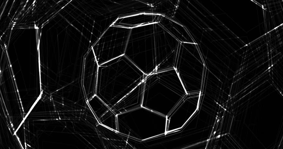 Abstract animation of soccer ball. Looped animation with alpha channel.  Animated background. Soccer Ball. Football background | Shutterstock HD Video #25111679