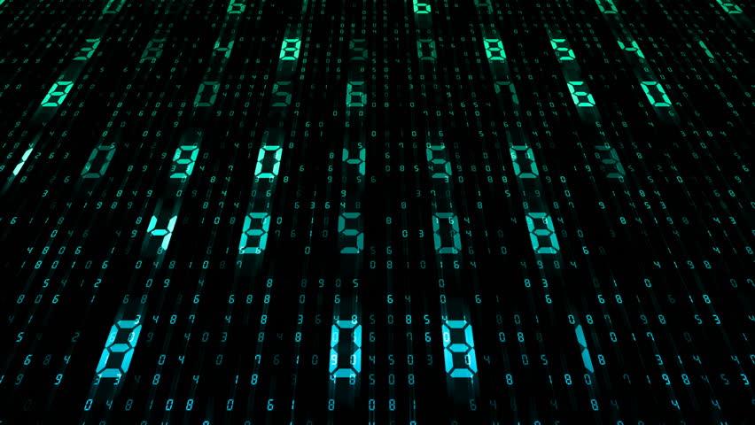 Digital world data space number text. | Shutterstock HD Video #25142849
