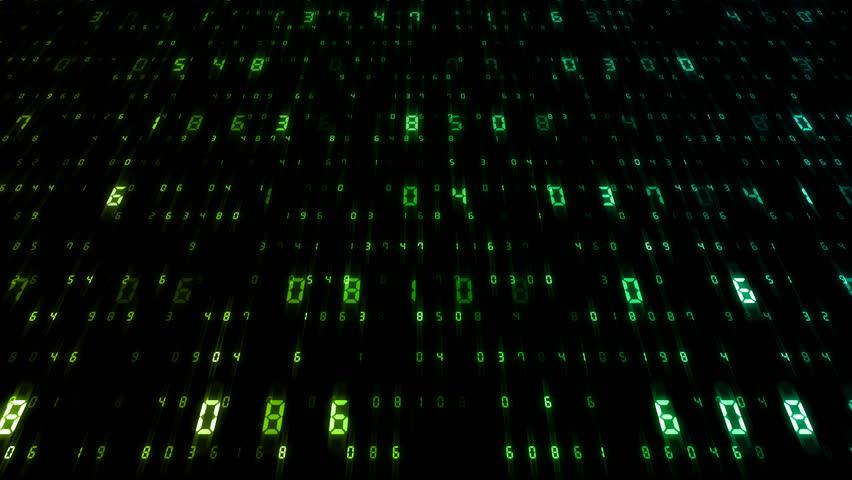 Digital world data space number text. | Shutterstock HD Video #25142879