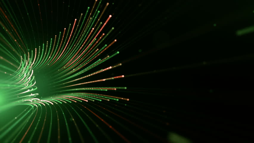 Abstract background with animation moving of lines for fiber optic network. Magic flickering dots or glowing flying lines. Animation of seamless loop. | Shutterstock HD Video #25151159