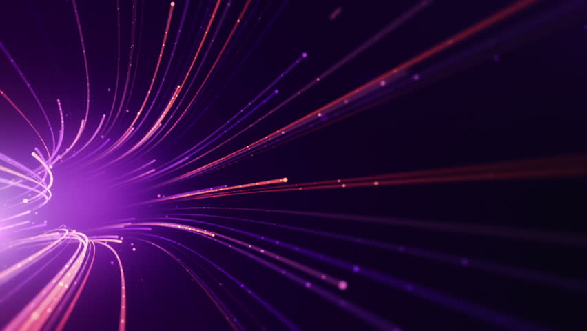 Abstract background with animation moving of lines for fiber optic network. Magic flickering dots or glowing flying lines. Animation of seamless loop. | Shutterstock HD Video #25151789