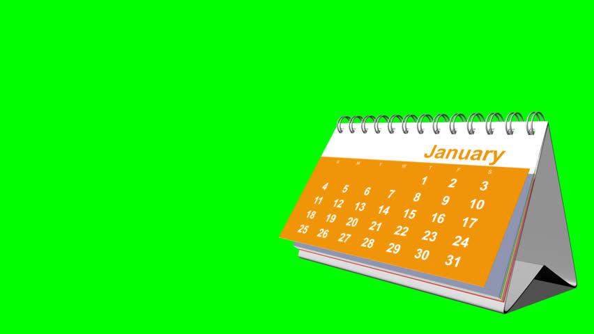 Desk calendar - keyable