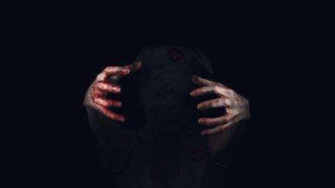 Nurse Zombie Holding Shaky Hands