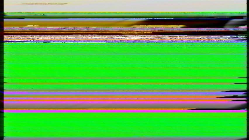 VHS noise on the greenscreen