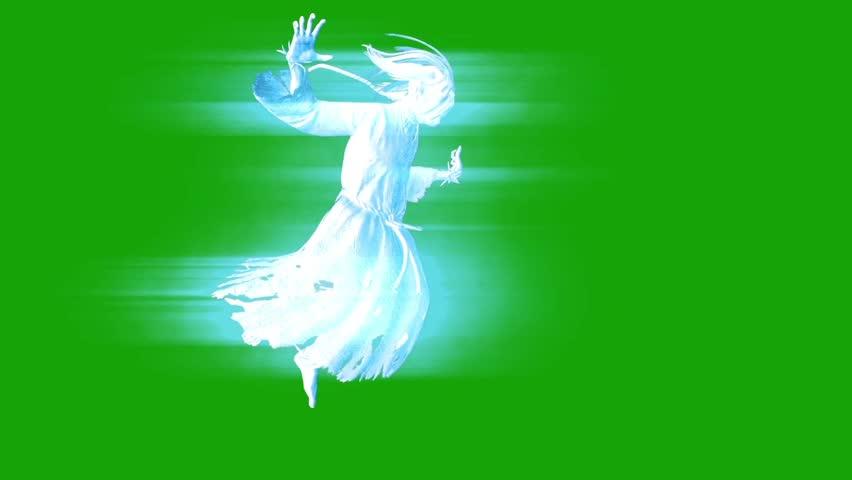 Ghost Hangman Horror Green Screen 3D Rendering