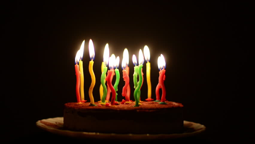 Birthday Cake And Candles On Stock Footage Video 100