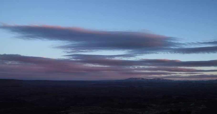 Clouds at sunset in utah | Shutterstock HD Video #25305959