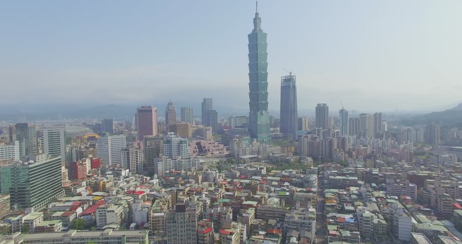 4k footage of City Taipei, Taiwan