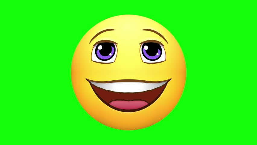 Emojis. Happy, love, laugh, ROFL, neutral, wow. Several variations. Options of loop-able sections, or pausing the action. Green screen chroma key. Note: All emojis are my own design. | Shutterstock HD Video #25351229