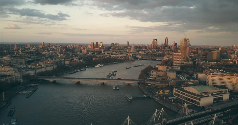 City Sunset Skyline Views - LONDON | Shutterstock HD Video #25527779