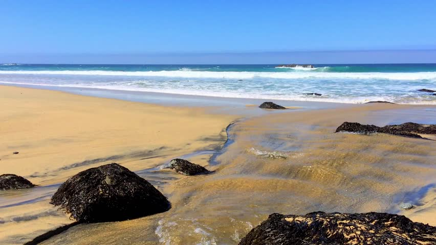 Waves and Rocks with Audio at Garrapata State Beach along California's Central Coast. | Shutterstock HD Video #25559699